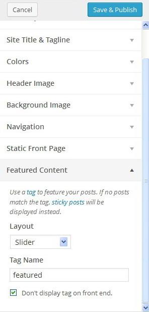 setup slider on wordpress