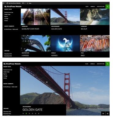 tampilan featured content